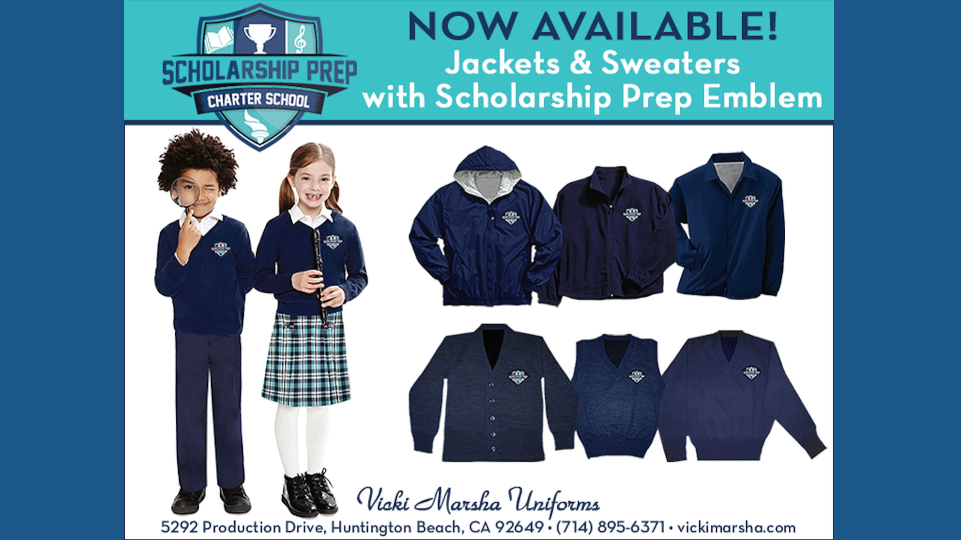 Scholarship Prep Outerwear Still Available