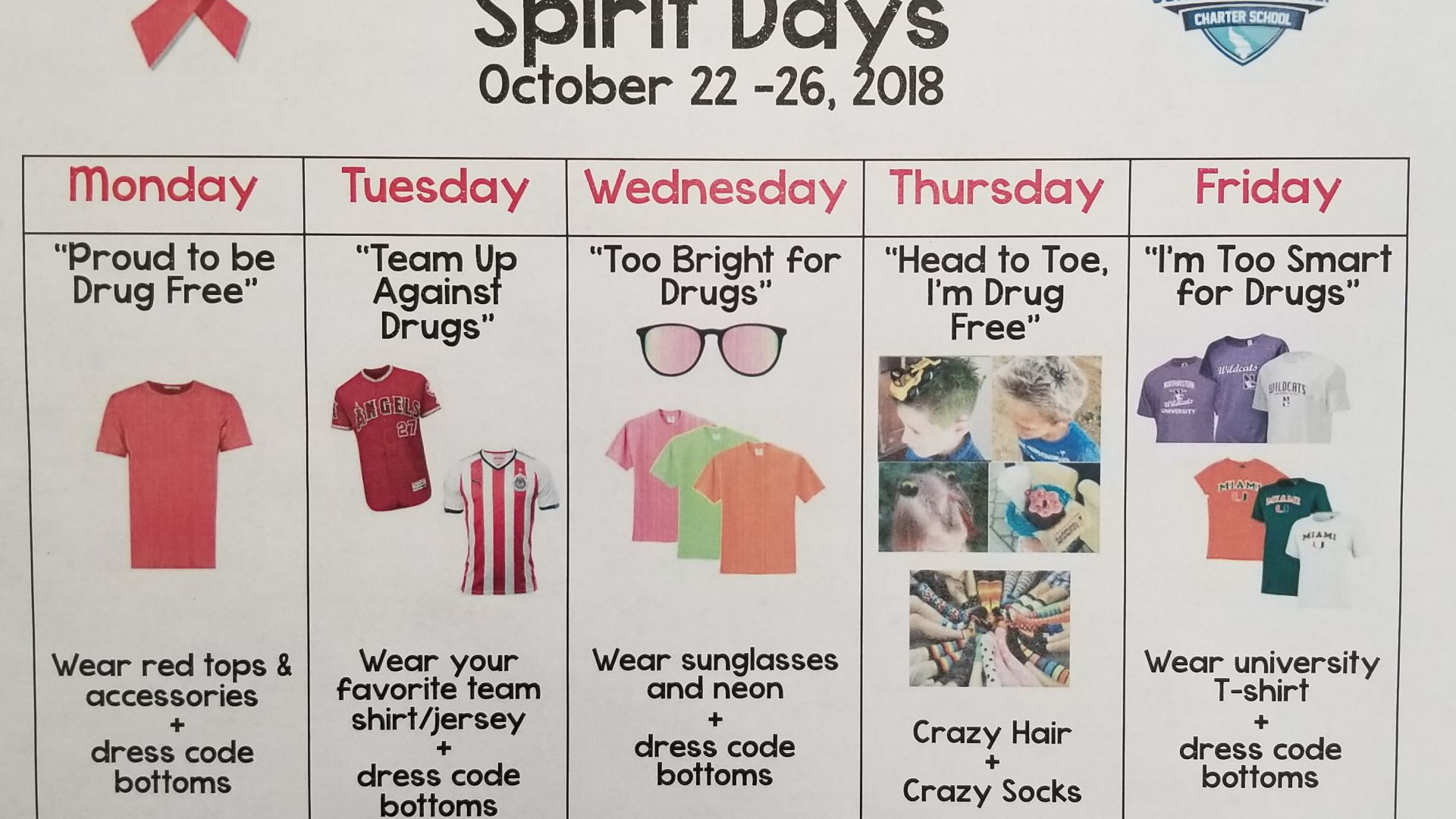Spirit Week: Red Ribbon Week